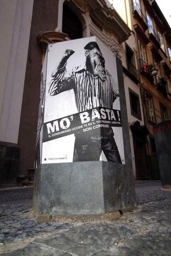 Advertisement, Naples, Campania, Italy : Stock Photo