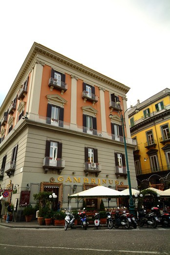 Bar Gambrinus, Plebiscito square, Naples, Campania, Italy : Stock Photo