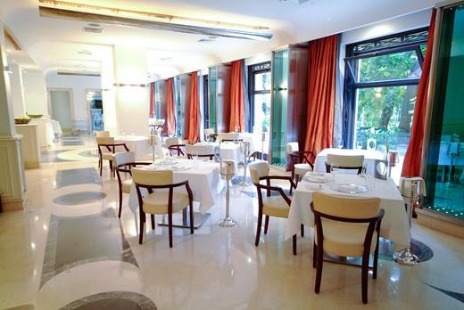 Ristorante Baby, Aldrovandi Palace hotel, Rome, Lazio, Italy : Stock Photo