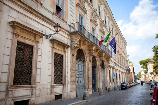 Palazzo Corsini palace, National Gallery of Acient Art, Via Della Lungara street, Rome, Italy : Stock Photo