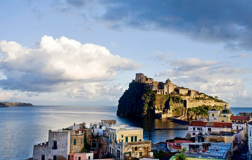 Stock Photo: 4261-48254 Aragonese castle, Ischia island, Campania, Italy, Europe