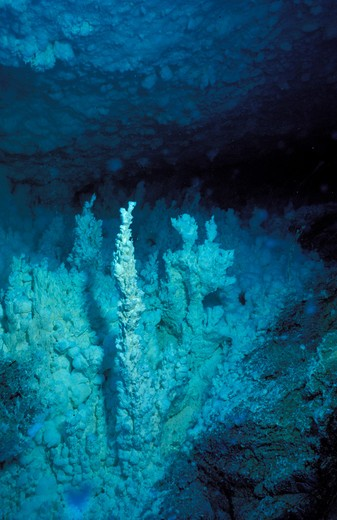 Stock Photo: 4261-48704 seabed with sulphureous formations, CNR volcanology research, Aeolian Islands, Sicily, Italy