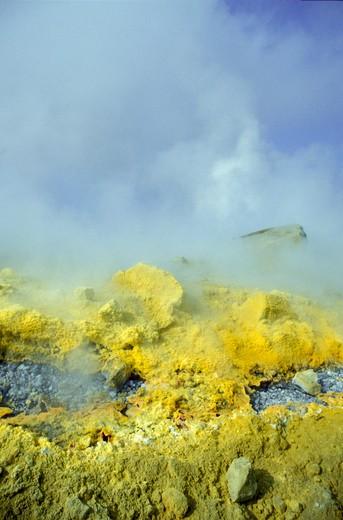 Fumarole, Stromboli, Aeolian Islands, Sicily, Italy : Stock Photo
