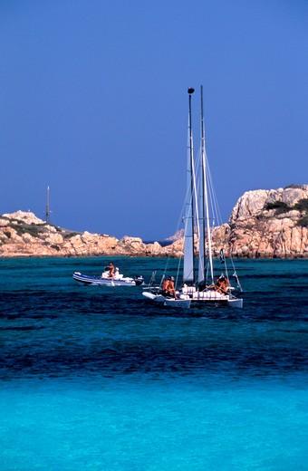 Spargi island, Maddalena archipelago, Sardinia, Italy : Stock Photo