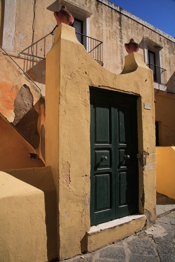 Stock Photo: 4261-49108 Typical houses, Ventotene island, Lazio, Italy