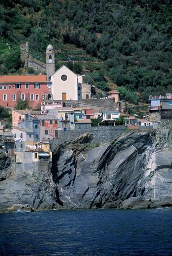 Coast, Corniglia, Cinque Terre, Ligury, Italy : Stock Photo