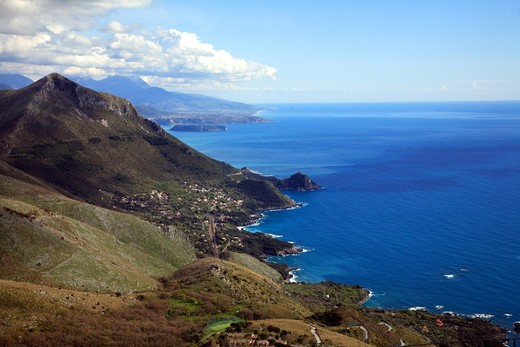 Stock Photo: 4261-49428 Calabrian coast seen from Mount San Biagio, Maratea, Basilicata, Italy
