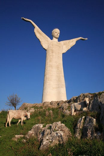 Stock Photo: 4261-49452 Christ the Redeemer statue, Mount San Biagio,  Maratea, Basilicata, Italy