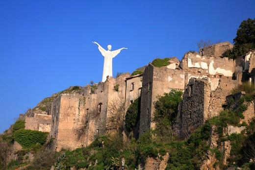 Christ the Redeemer statue, Mount San Biagio,  Maratea, Basilicata, Italy  : Stock Photo