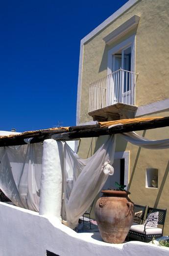 Stock Photo: 4261-49727 Aeolian architecture style, Panarea island, Aeolian Islands, Sicily, Italy
