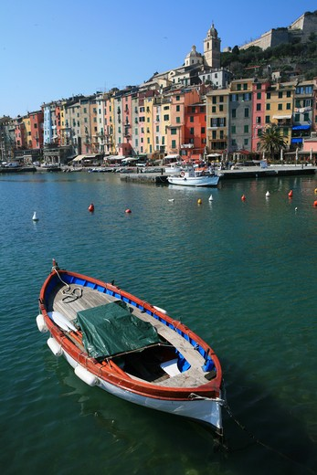 Foreshortening, Portovenere, Ligury, Italy  : Stock Photo