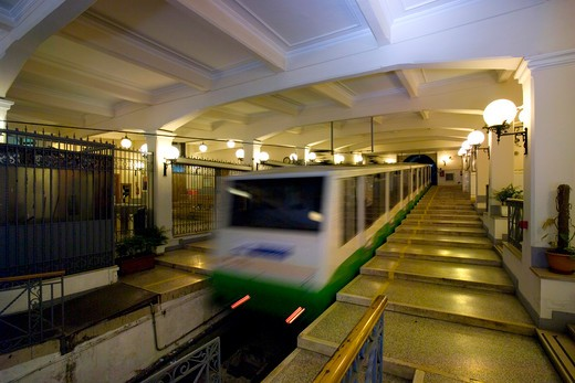 Augusteo station, Centrale cable railway, Naples, Campania, Italy : Stock Photo