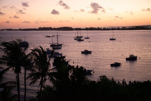 Sunset on Somerset Long Bay, Somerset Island, Bermuda, Atlantic Ocean, Central America : Stock Photo