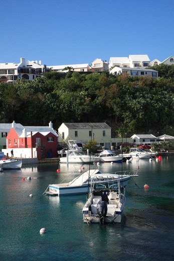 Harbour, Flatts Village, Smiths Parish, Bermuda, Atlantic Ocean, Central America : Stock Photo