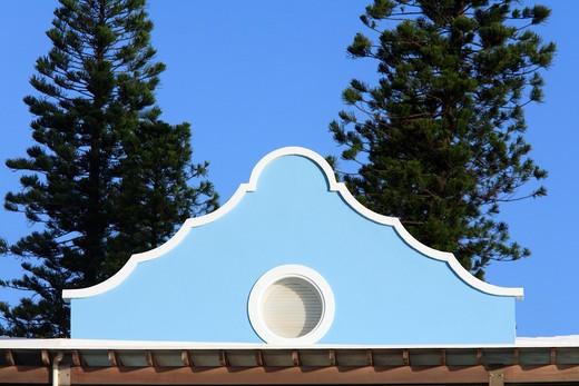 Typical houses, Bermuda, Atlantic Ocean, Central America : Stock Photo
