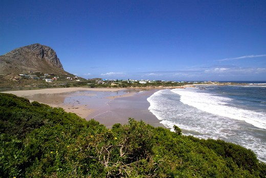 Stock Photo: 4261-5094 Coast along False Bay, Cape Hangklip, South-West coast, South Africa, Africa