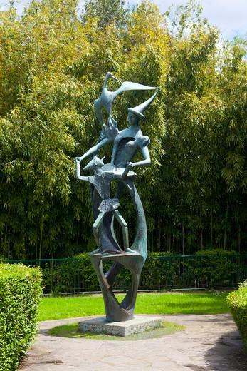 Pinocchio and the Fairy bronze, Parco di Pinocchio, Collodi, Tuscany, Italy : Stock Photo