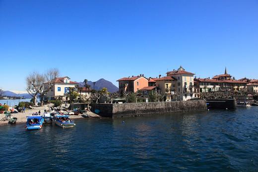 Isola dei Pescatori, Borromean Islands, Lago Maggiore, Piedmont, Italy : Stock Photo