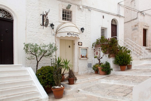 House, historic centre, Ostuni, Puglia, Italy : Stock Photo