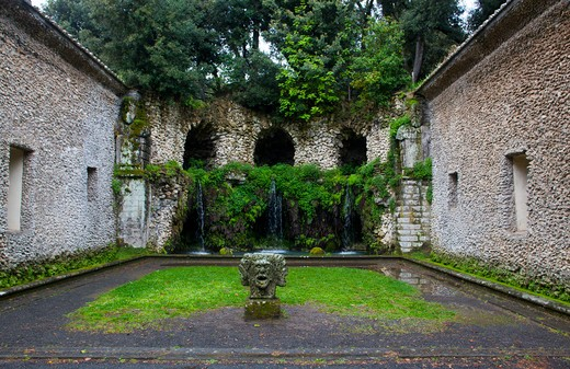 Stock Photo: 4261-57233 Diluvio fountain, Villa Lante, Bagnaia, Lazio, Italy