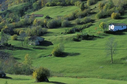 Farm, Valsassina, Lombardy, Italy : Stock Photo