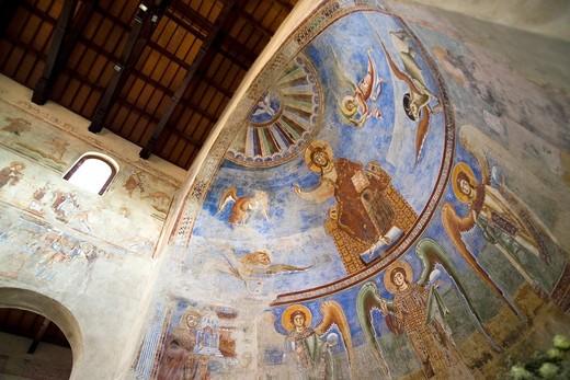Basilica of Sant Angelo in Formis, Capua, Campania, Italy, Europe : Stock Photo