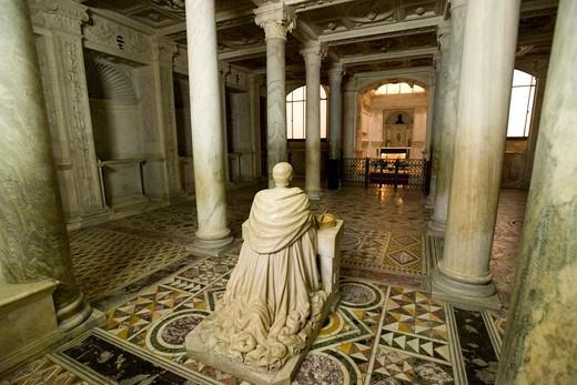 Cripta di San Gennaro crypt, Duomo di Napoli, Naples, Campania, Italy, Europe : Stock Photo
