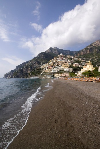 Stock Photo: 4261-6035 Cityscape, Positano, Amalfi Coast, Campania, Italy, Europe