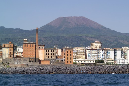 Old mills Marzoli, Vesuvian Coast, Torre del Greco, Gulf of Naples, Campania, Italy : Stock Photo