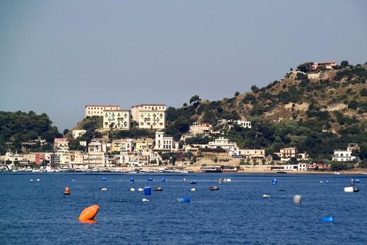 Stock Photo: 4261-6242 Mussel farming, Baia di Bacoli, Gulf of Pozzuoli, Campania, Italy