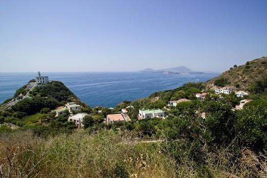 Capo Miseno, Bacoli, Gulf of Pozzuoli, Campi Flegrei, Campania, Italy : Stock Photo