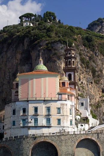 Stock Photo: 4261-6443 Collegiate Penitent St. Mary Magdalene, Atrani, Amalfi Coast, Salerno, Campania, Italy