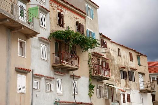 House, Baska, Krk island, Croatia, Europe : Stock Photo