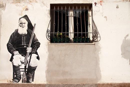 Murals, Orgosolo, Sardinia, Italy  : Stock Photo