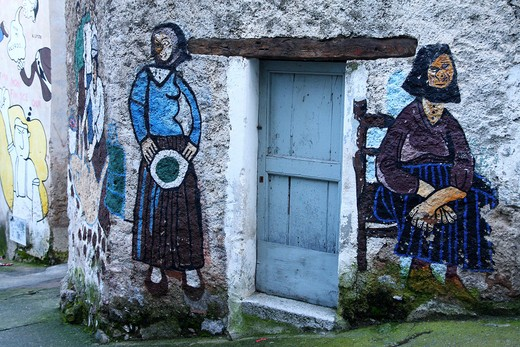 Murals, Orgosolo, Sardinia, Italy  : Stock Photo