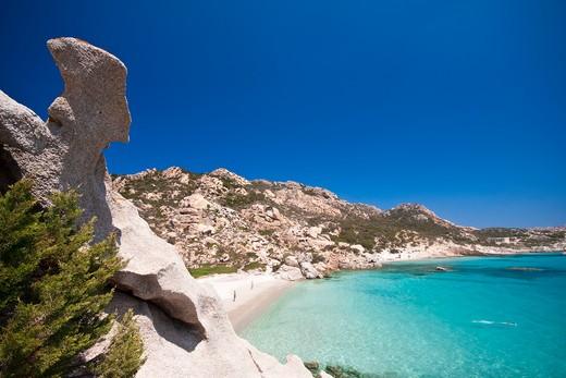 Cala Corsara, Spargi island, arcipelago della Maddalena,  La Maddalena,  Olbia Tempio,  Gallura,  Sardinia, Italy, Europe : Stock Photo