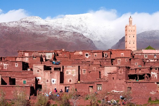 Village, Atlas, Morocco, North Africa : Stock Photo