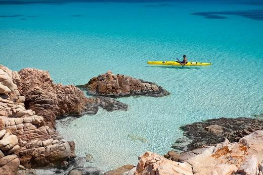 Cala Ciaccaro, Cala Soraia, Isola di Spargi island, La Maddalena (OT), Sardinia, Italy, Europe : Stock Photo