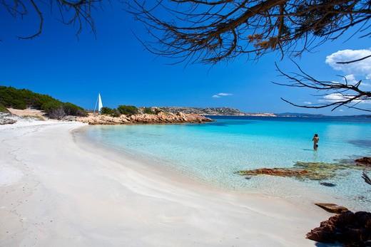 Cala Granara, Isola di Spargi island, La Maddalena (OT), Sardinia, Italy, Europe : Stock Photo