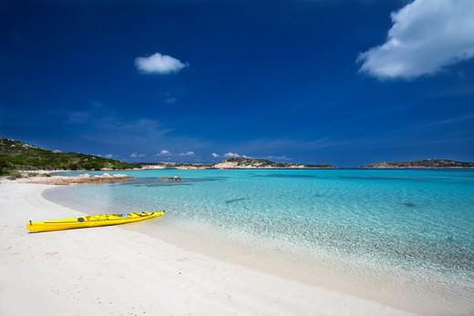 Spiaggia di Cavalieri, Isola di Budelli island, La Maddalena (OT), Sardinia, Italy, Europe : Stock Photo