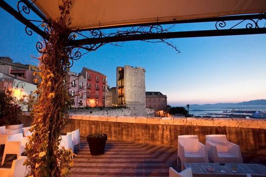 Bastione di Santa Croce, Torre dell'Elefante, Cagliari (CA), Sardinia, Italy, Europe : Stock Photo
