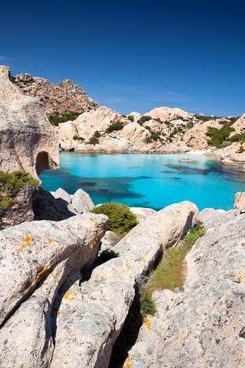 Stock Photo: 4261-66682 Cala Coticcio, Spiaggia Tahiti, Isola di Caprera, parco nazionale Arcipelago della Maddalena, La Maddalena (OT), Sardinia, Italy, Europe