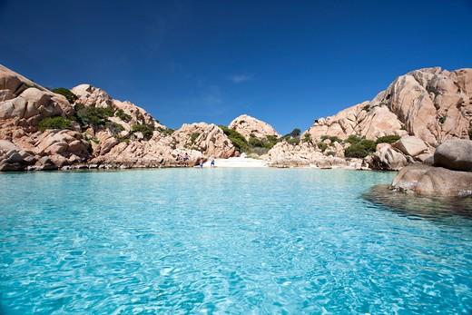 Stock Photo: 4261-66686 Cala Coticcio, Spiaggia Tahiti, Isola di Caprera, parco nazionale Arcipelago della Maddalena, La Maddalena (OT), Sardinia, Italy, Europe