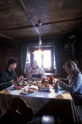 Stock Photo: 4261-67488 Gerhard and Laura Runggatscher, Maso Ranui-Val di Funes, Trentino Alto Adige, Italy.
