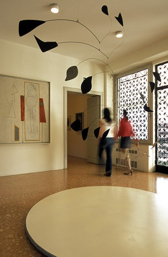 Peggy Guggenheim collection, Venier dei Leoni palace, Venice, Veneto, Italy  : Stock Photo