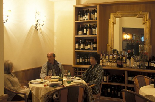 Ippogrifo restaurant, Genoa, Ligury, Italy  : Stock Photo