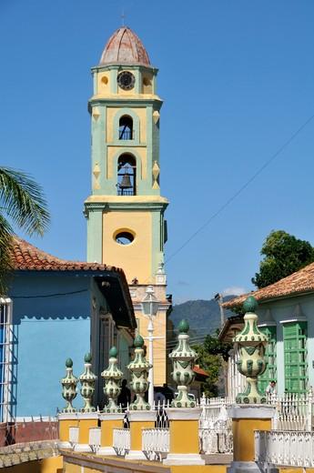 Iglesia y convento de San Francisco, Trinidad, Cuba, West Indies, Central America : Stock Photo
