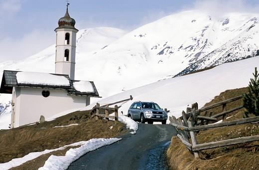 Toyota Rav4, Val Federia, Lombardy, Italy : Stock Photo