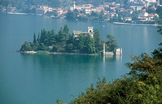 Loreto island, Monte Isola, Iseo lake, Lombardy, Italy : Stock Photo