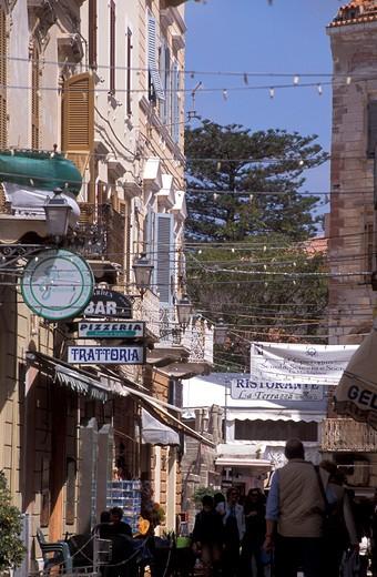 Historical centre, La Maddalena island, Sardinia, Italy : Stock Photo